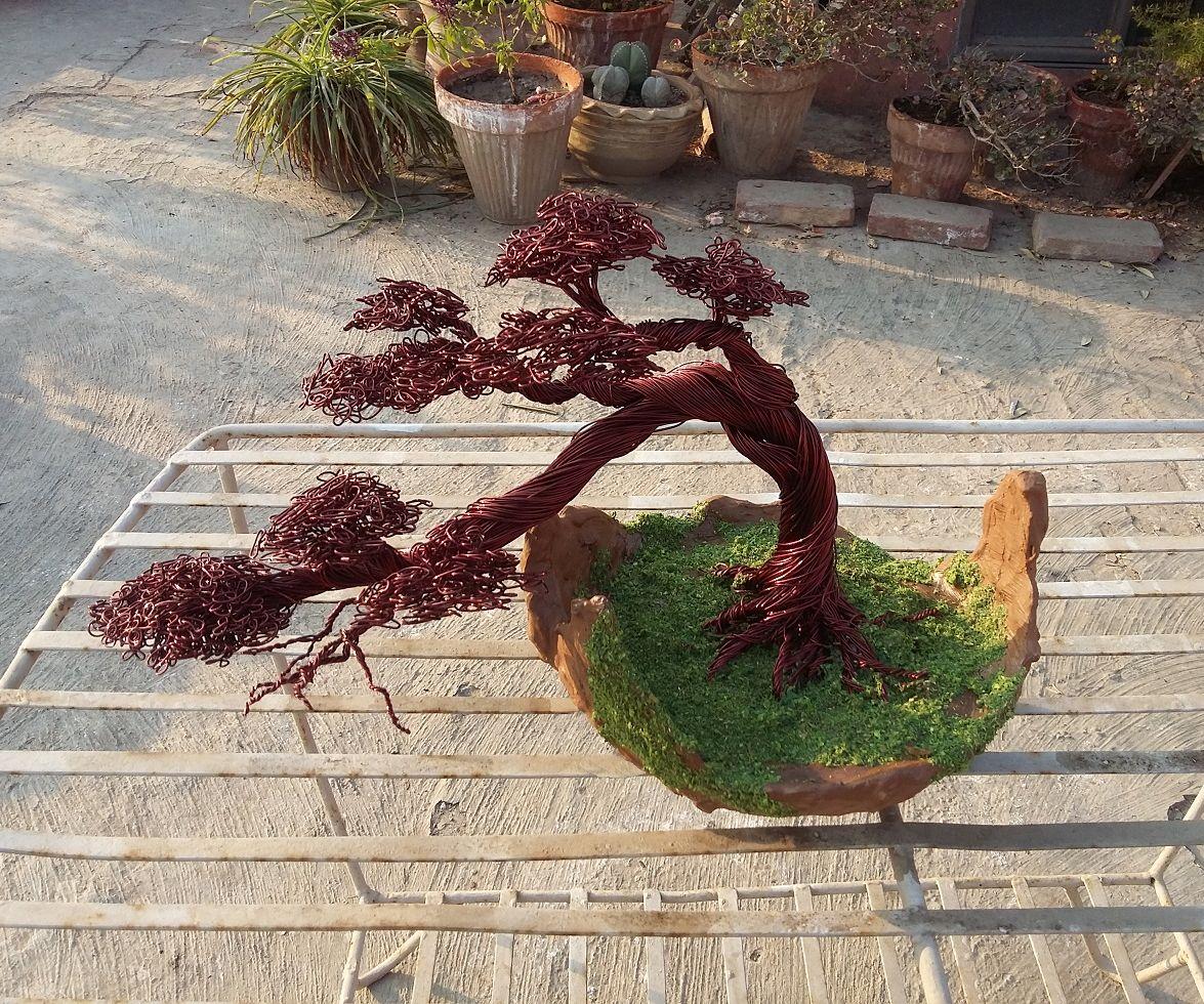 Wire Tree With Bonsai Pot