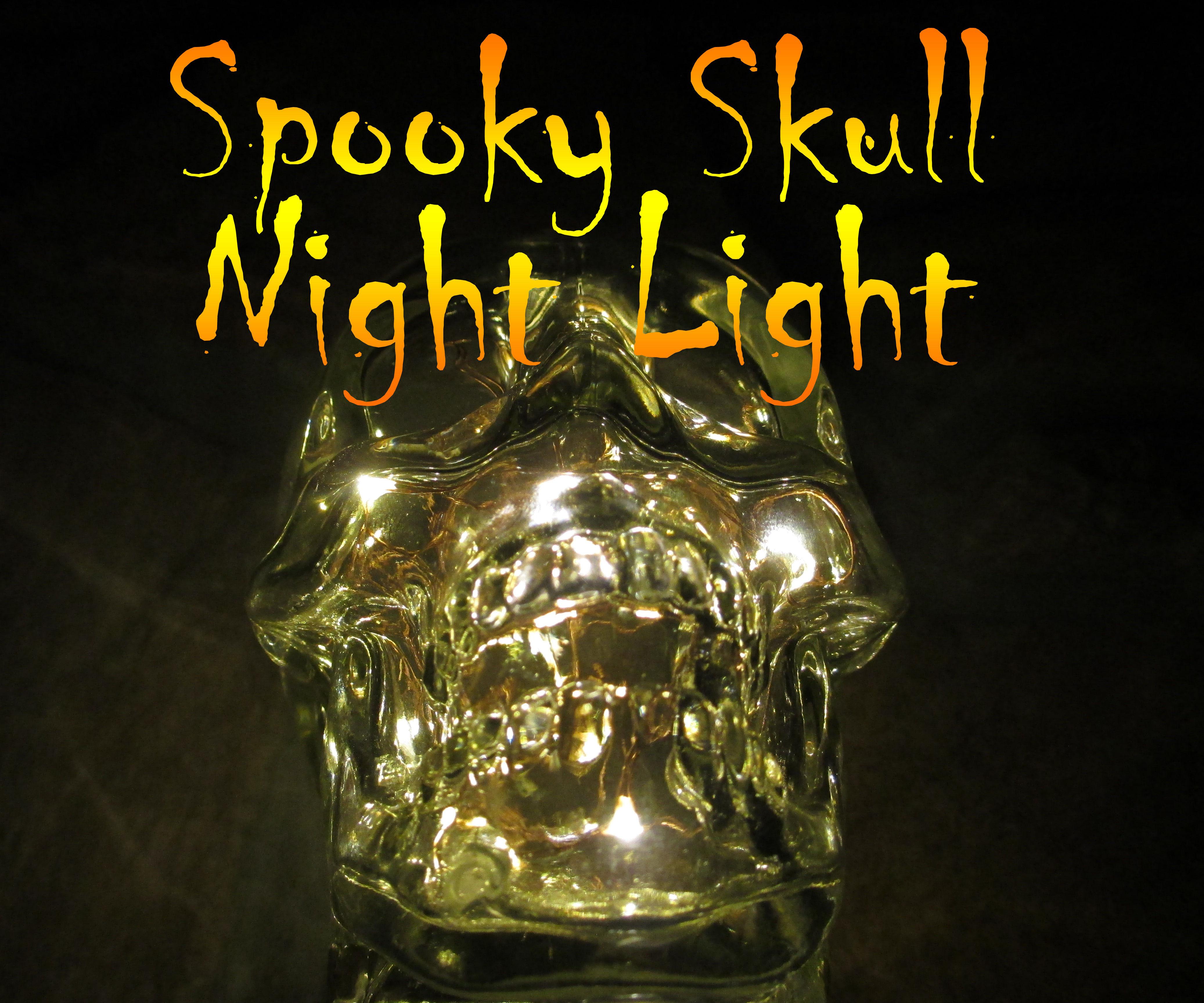 Spooky LED Skull Night Light