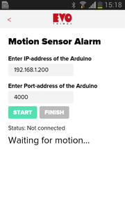 Developing Motion Sensor Alarm App