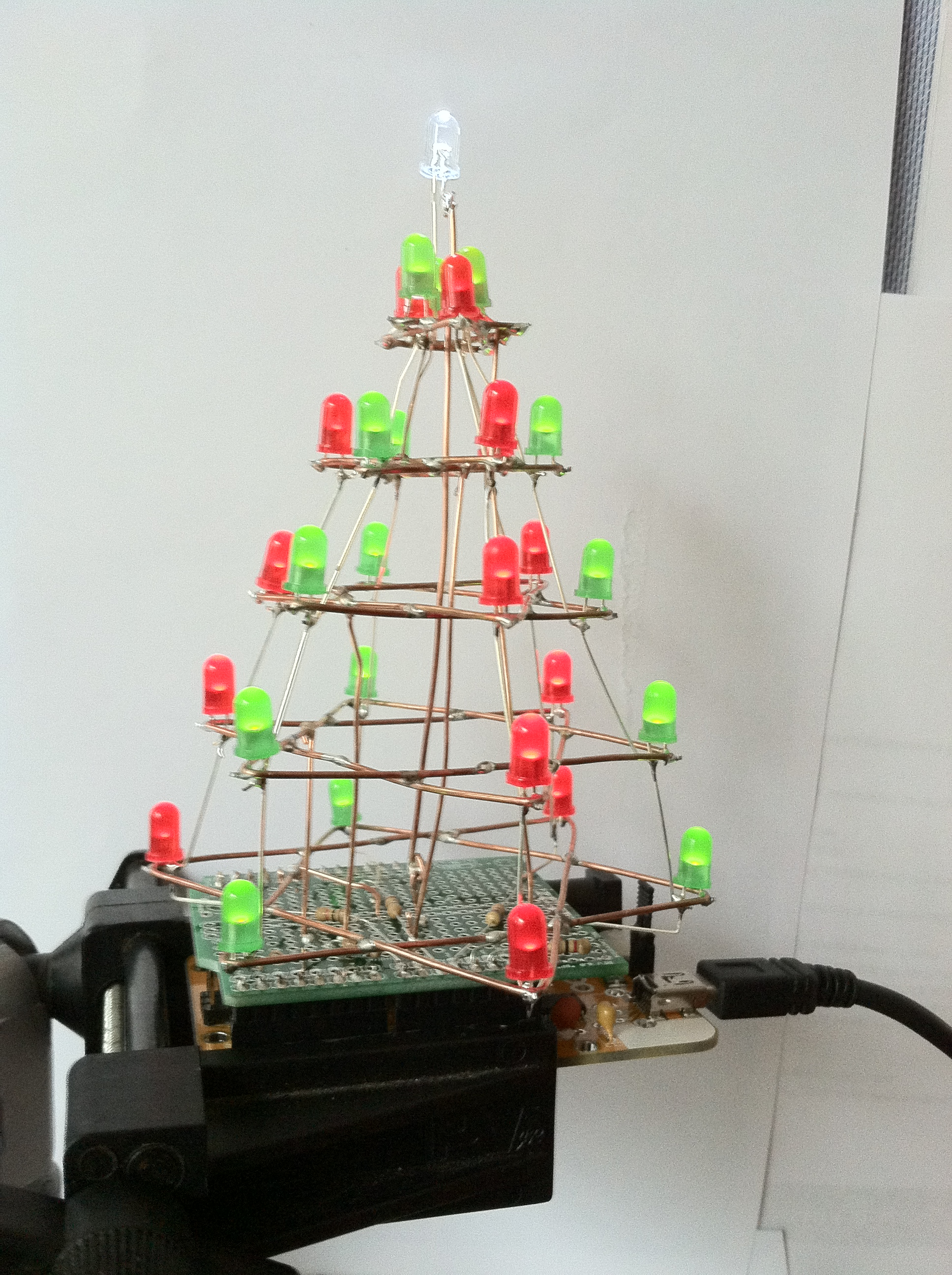 A Charlieplexed Christmas Tree
