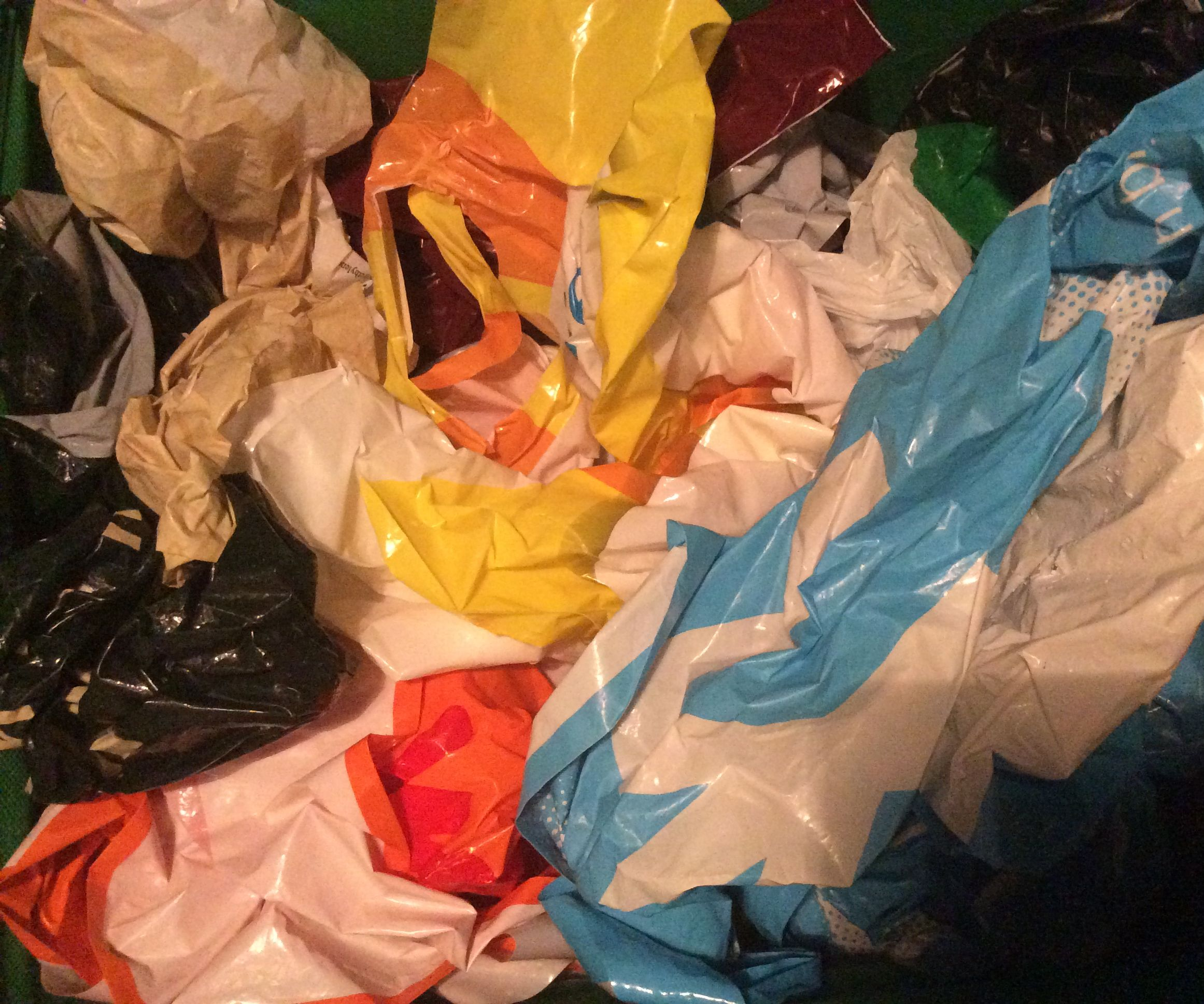 How to fold a plastic bag