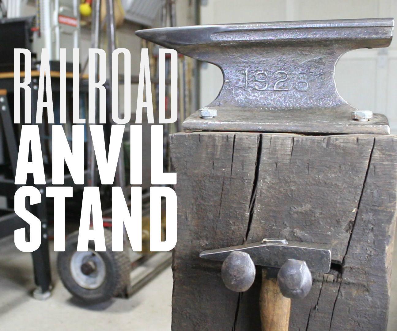 DIY Railroad Anvil Stand