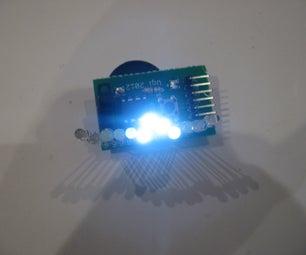 Tiny Wearable LED Kit - 12 PWM LEDs From a Reprogramable ATtiny85