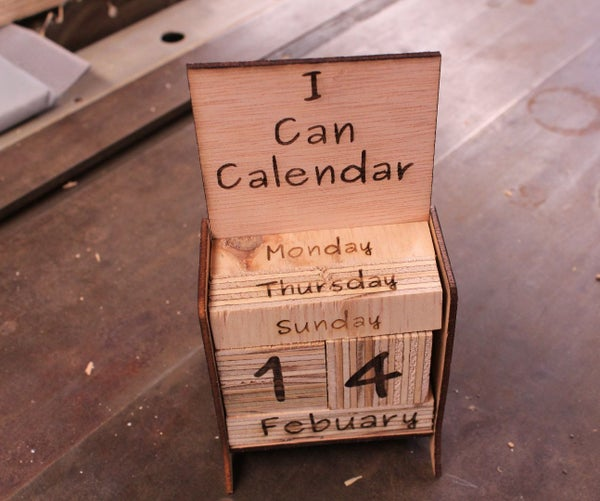 I Can Calendar- From Plywood (Educational Calendar for Kids)