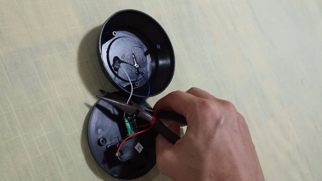Clip the Solar Panel Wires