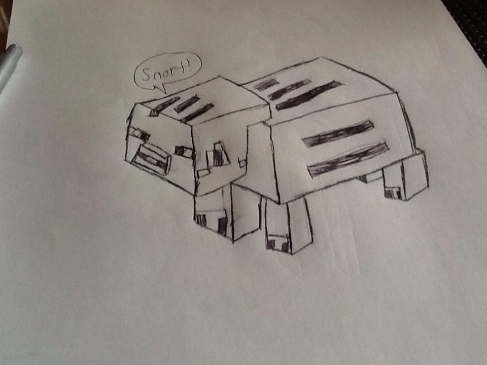 How To Draw Minecraft Pig - A Minecraft Series