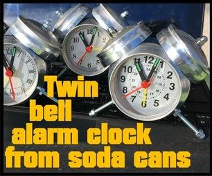 来自苏打罐的双铃闹钟