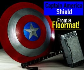 How to Make a Captain America Shield From Foam