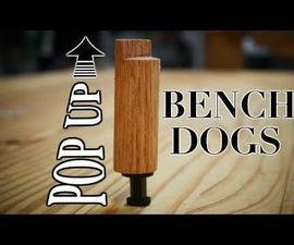 DIY Pop Up Bench Dogs