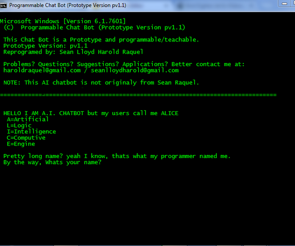 AI ChatBot in Batch File