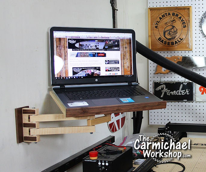 Laptop Wall Mount 7 Steps With, Wall Mount Articulating Laptop Arm