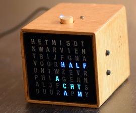 Bedside MP3 Alarm Letter Clock