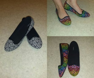 Rainbow Glitter Shoes