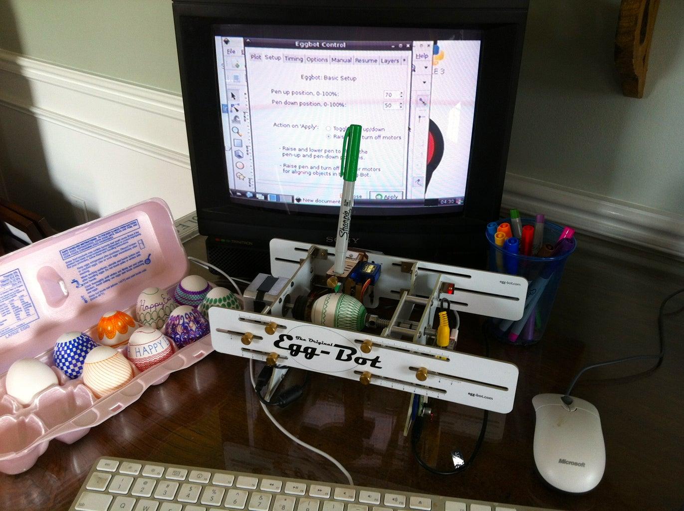 Use the Raspberry Pi-hacked EggBot