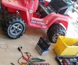 Basic 18v Speed Upgrade for 12v Power Wheels