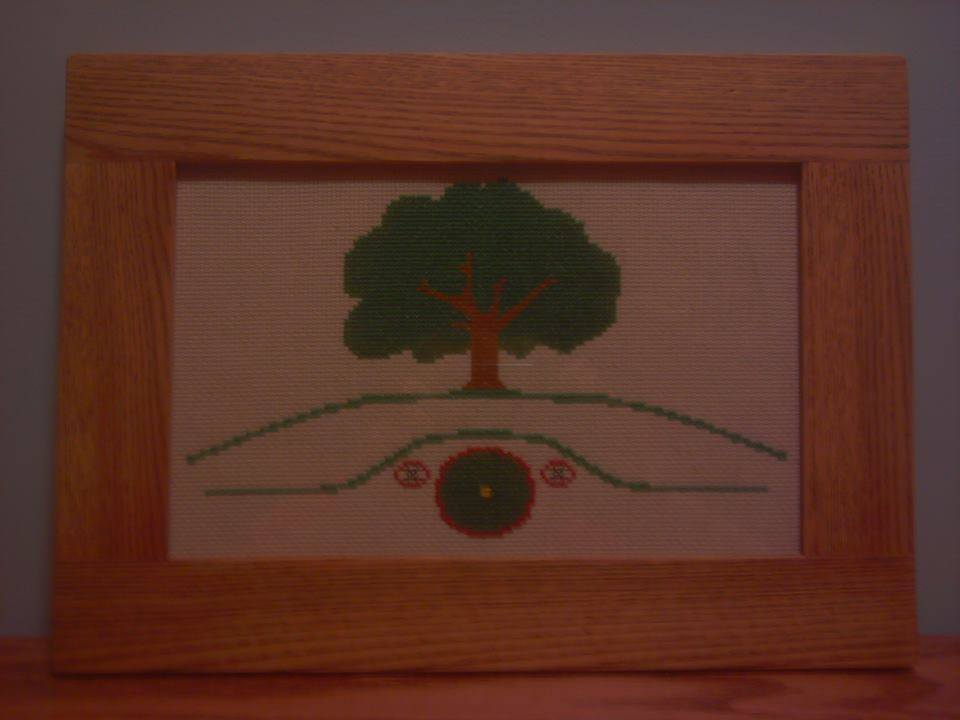 Hobbit Hole cross stitch pattern - PDF