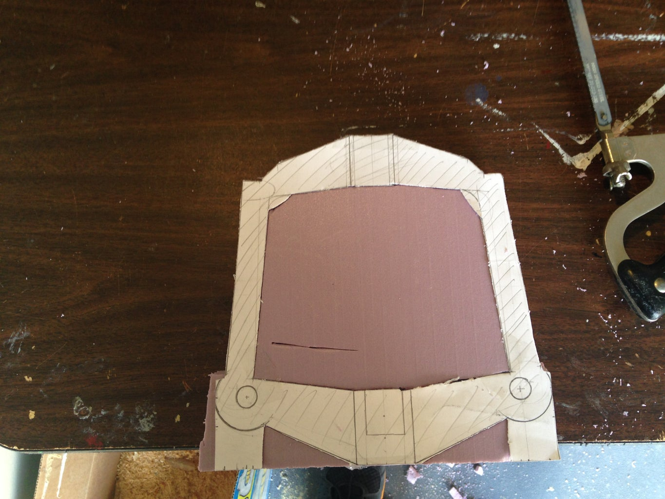 Cutting Out the Handle