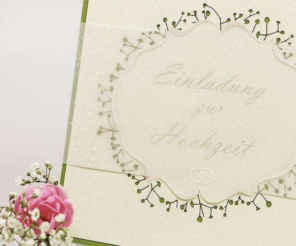 Laser Processed Paper Wedding Invitation