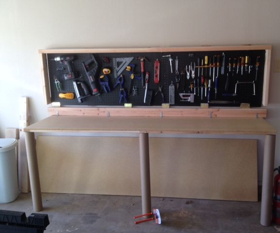 Wall-Mounted Folding Workbench