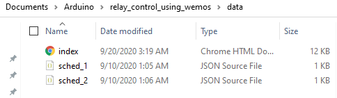 Upload the Webpage and Schedule Files