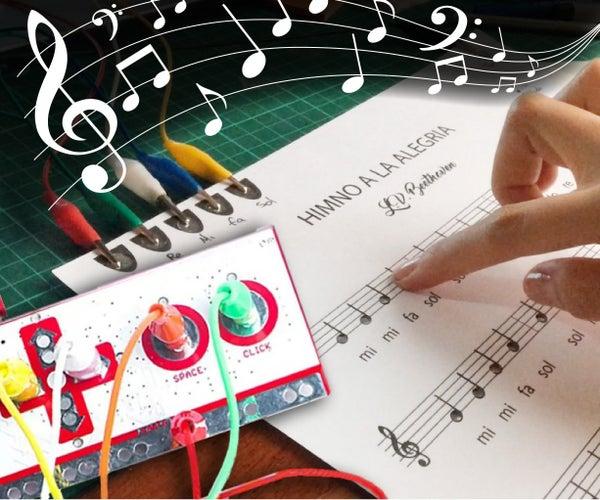 Teaching Music, a MUSIC SHEET That Actually SOUNDS!