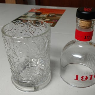 Cut Square and Odd Shaped Glass Bottles