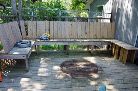 Deck Coffee Table Out of Treated Lumber