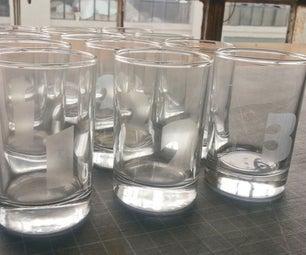 Lasercut Straight-Sided Taster Glasses