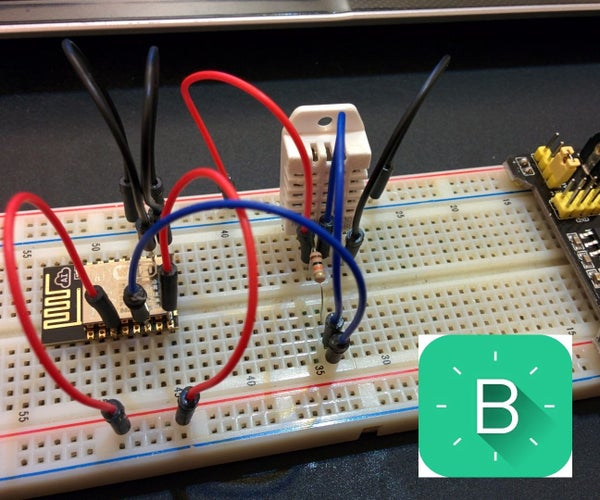 ESP8266-12 Blynk Wireless Temperature, Humidity DHT22 Sensor