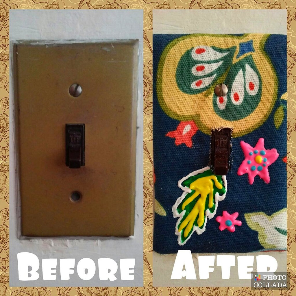 Fabric Covered Light Switch Plate