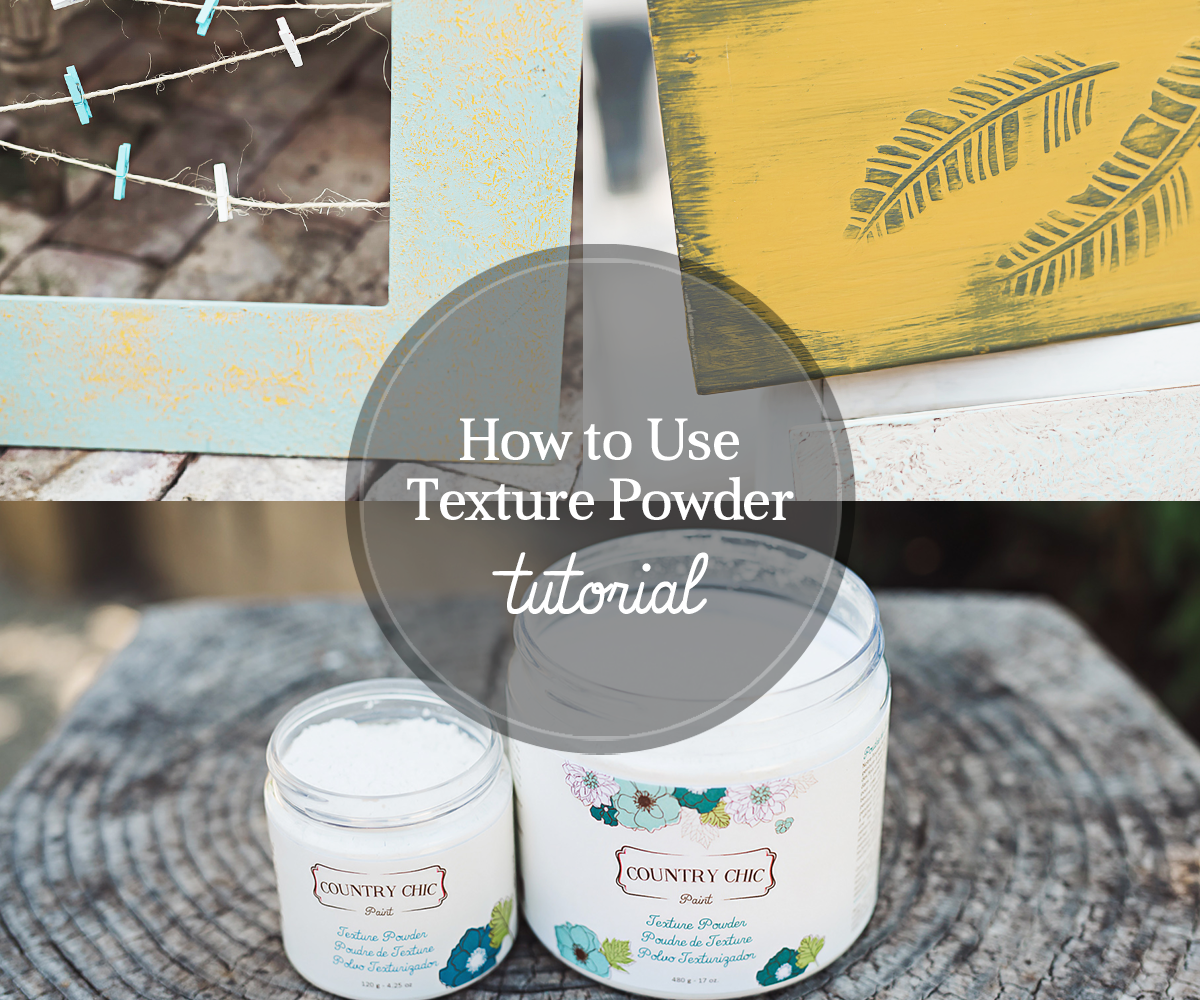 How To Create Embossed Details with Texture Powder