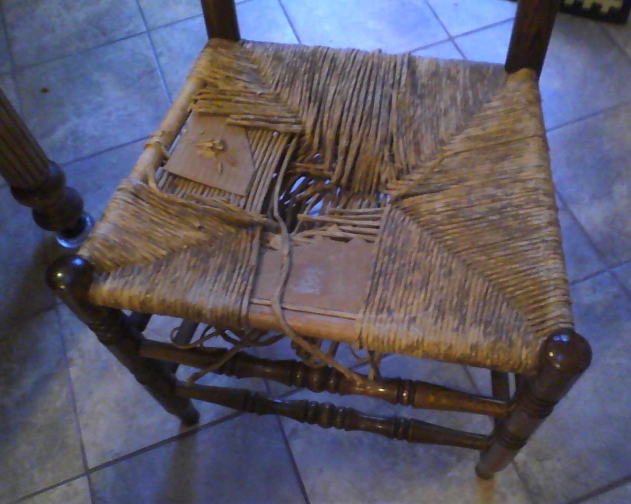 Repairing Thrift Chairs with Leather Belts