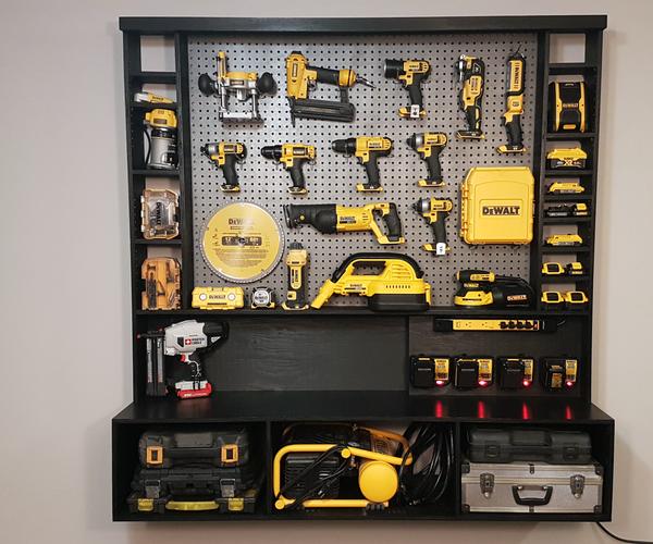 DIY Power Tool Storage W/ Charging Station
