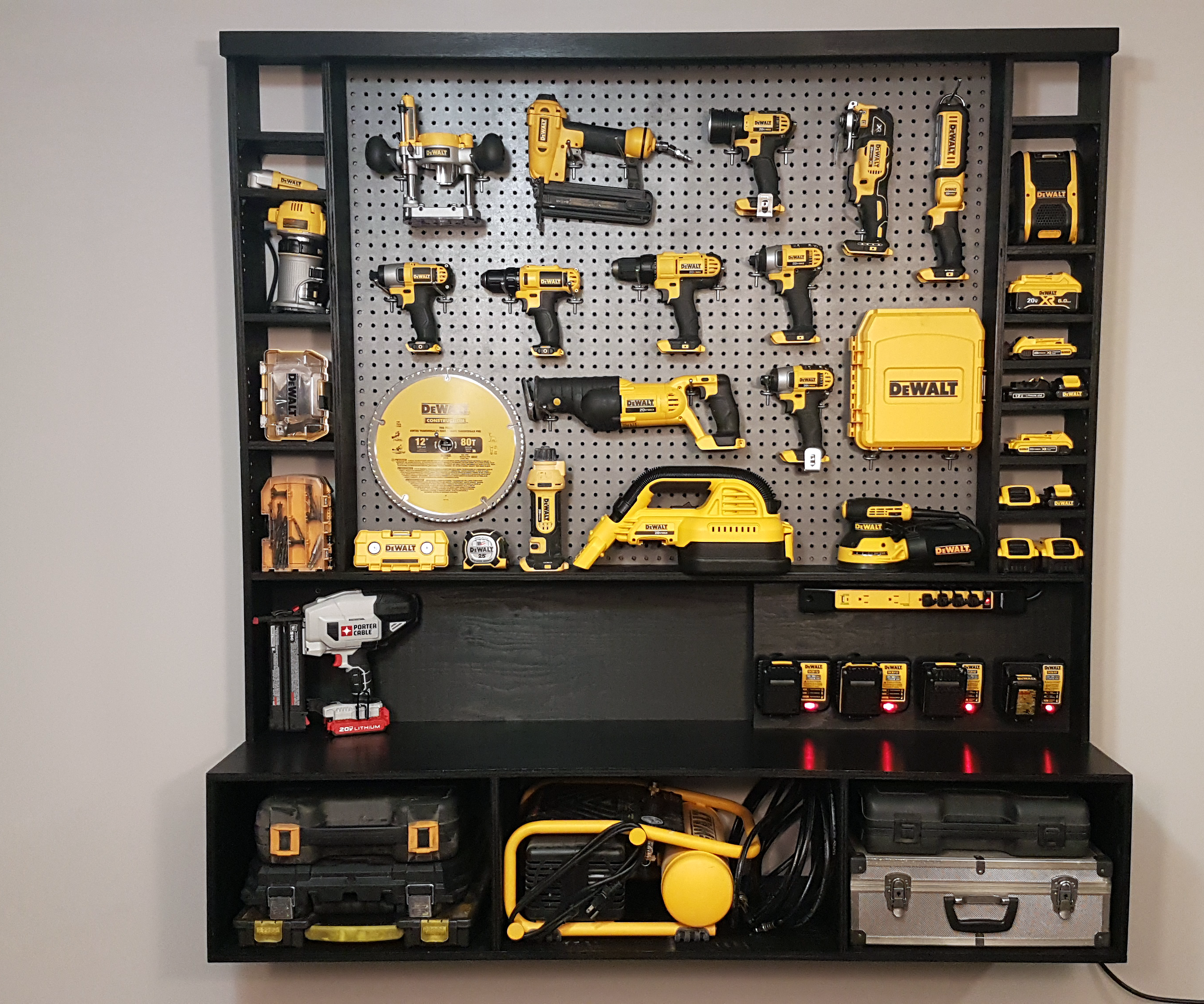 Diy Power Tool Storage W Charging Station 10 Steps With Pictures Instructables