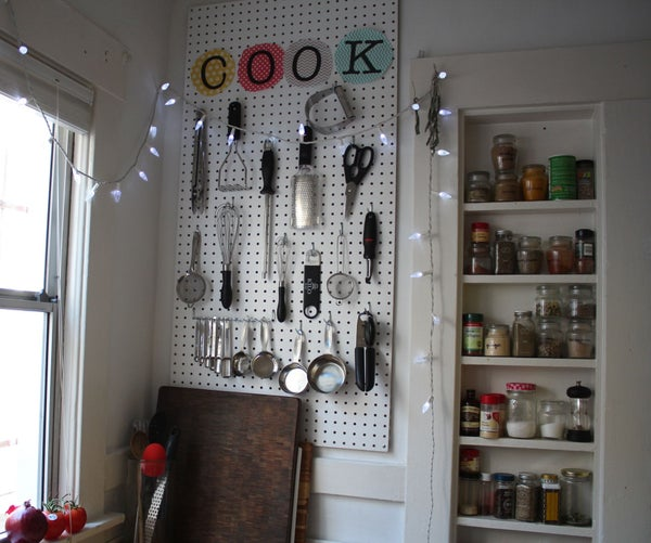 Kitchen Pegboard Organizer