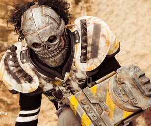 Turbo Kid Skeletron Cosplay Prop Weapon and Mask - SKS Props