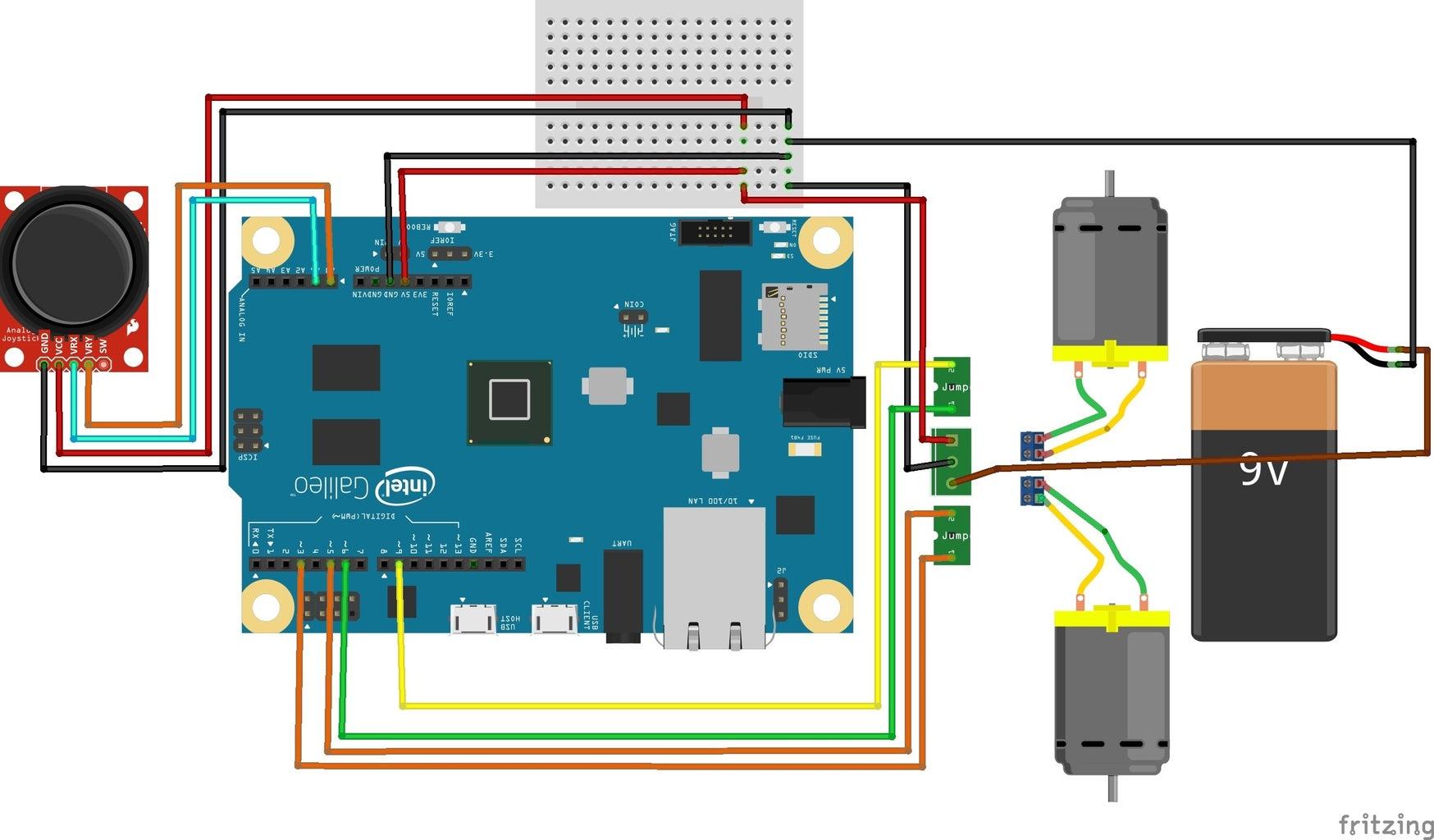 Interfacing Joystick With Intel Galileo