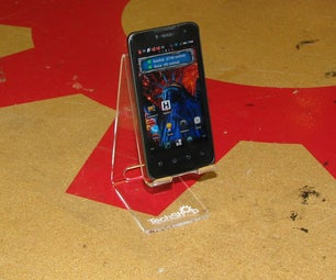 MAKE a LASER CUT ACRYLIC SMART PHONE STAND