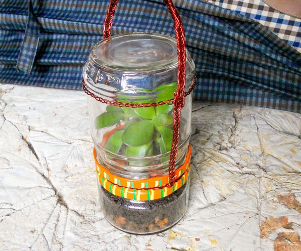 Portable Glass Terrarium for Plants With Removal Parts