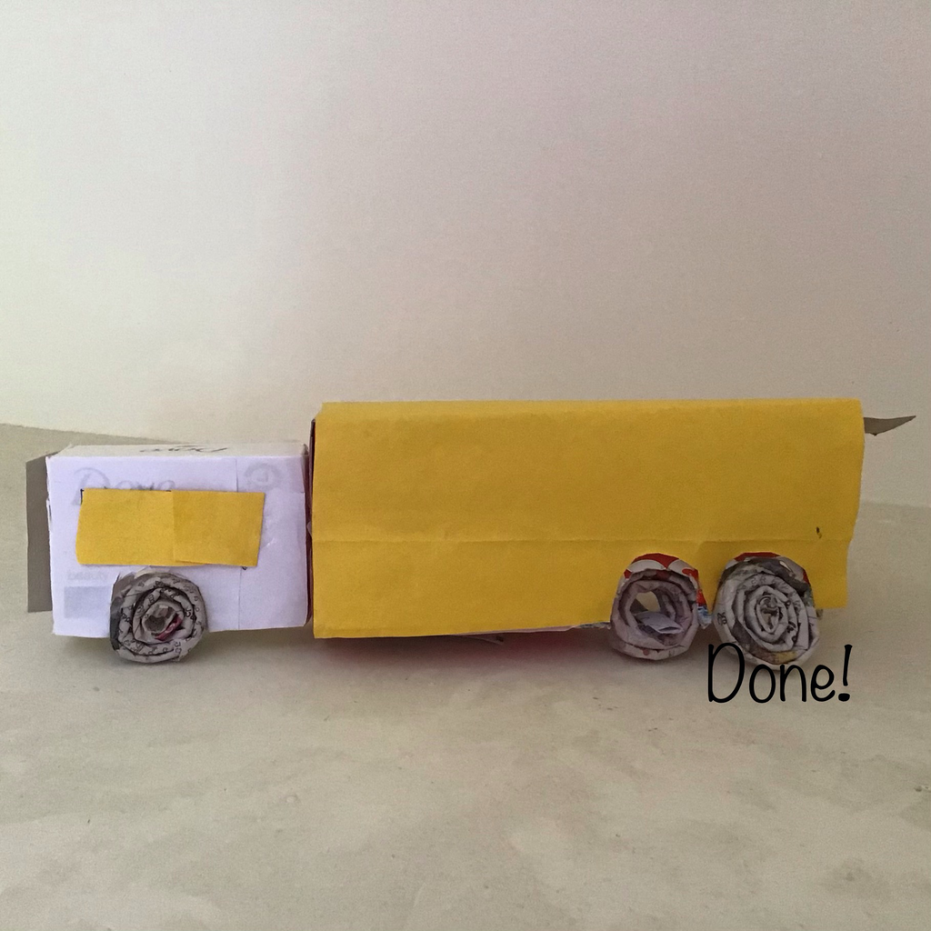 Waste Toothpaste and Soap Boxes to a Truck With a Storage Space!