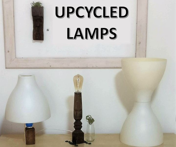Three Upcycled Lamps