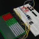 GEEKS ARE KEWL: Arduino-Controlled 18x6 LED Matrix (in progress)