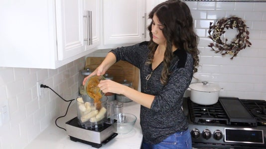 Add Banana and Peanut Butter to Food Processor