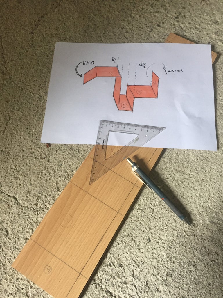 Step 1: Mark the Dimensions on Wooden Material