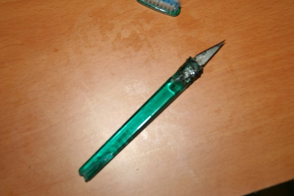 Toothbrush X Acto Knife