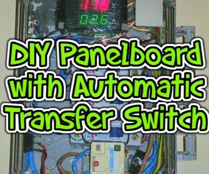 DIY Circuit Breaker Panelboard With Automatic Transfer Switch (ATS), Metering and Computer Control.
