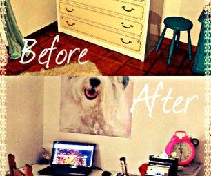 Bedroom Makeover: Hidden Desk
