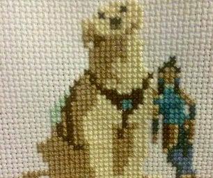 Legend of Korra Cross Stitch: Korra and Naga