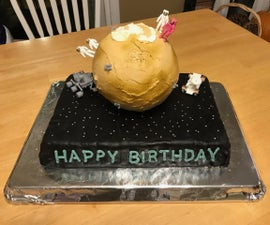Mars Birthday Cake (It's Out of This World)