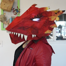 Upcycled Dragon Head Mask